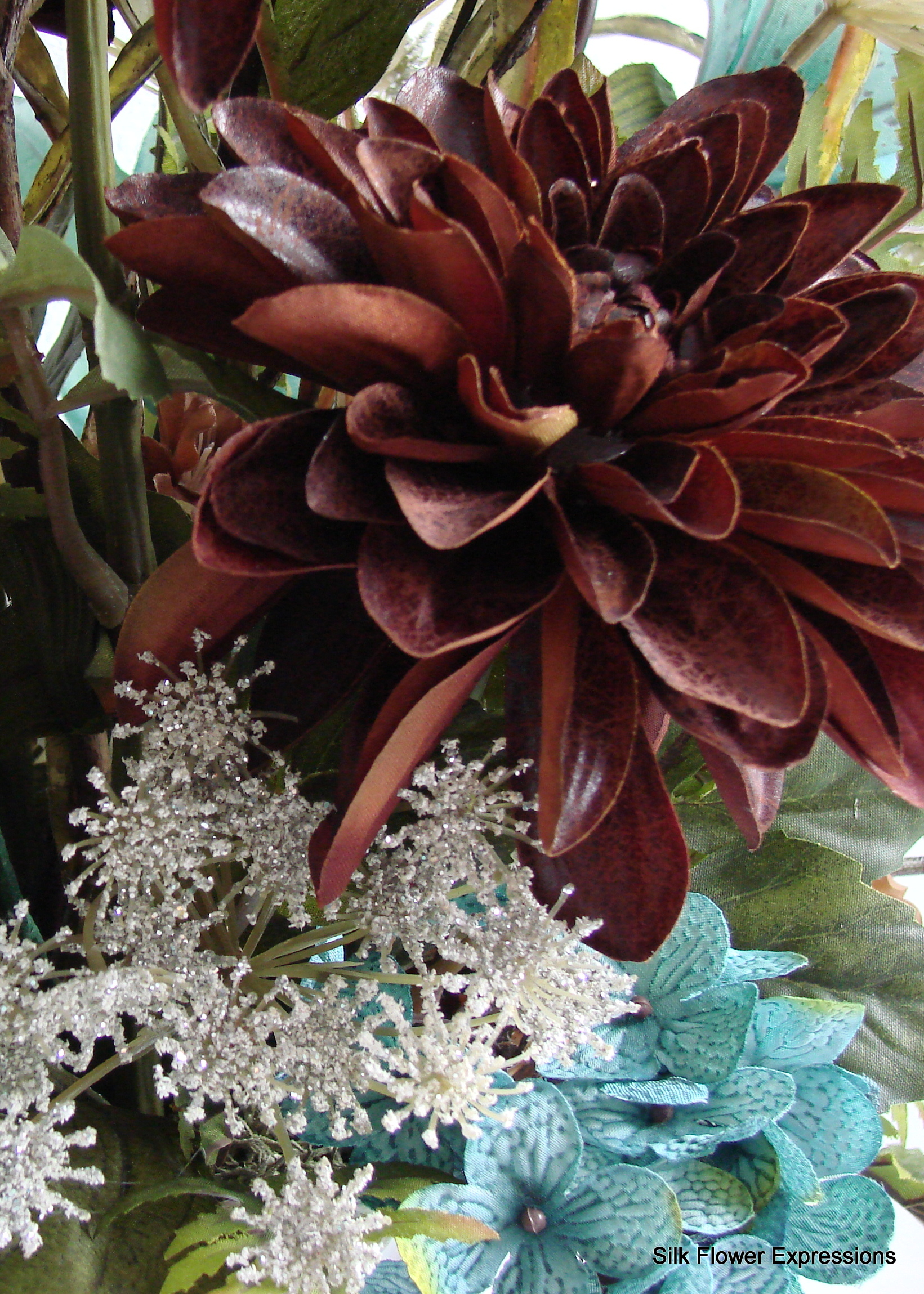 Extra Large Arrangement In Blue And Brown Silk Flower Expressions