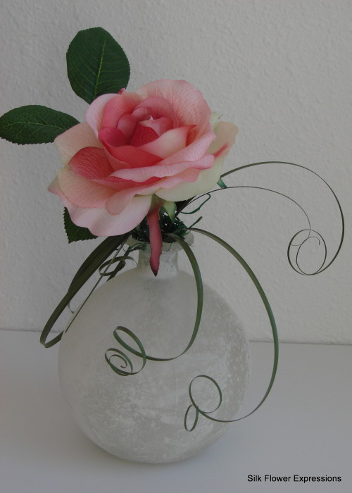 Pink Rose with curls