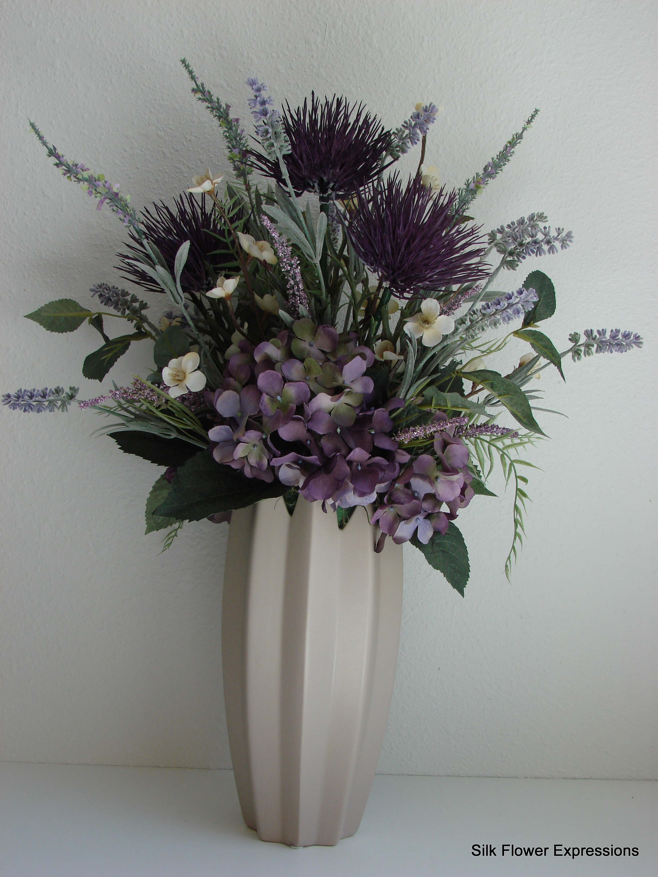 Purple Thistle Silk Flower Expressions