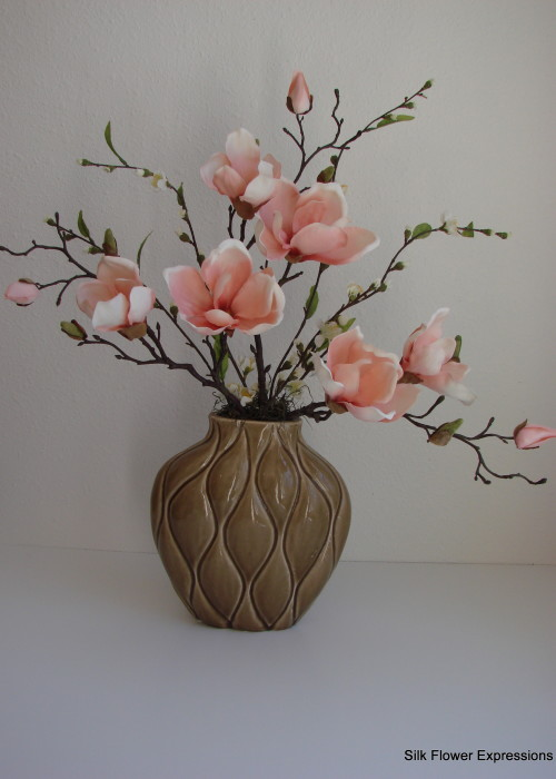 Salmon colored Magnolias