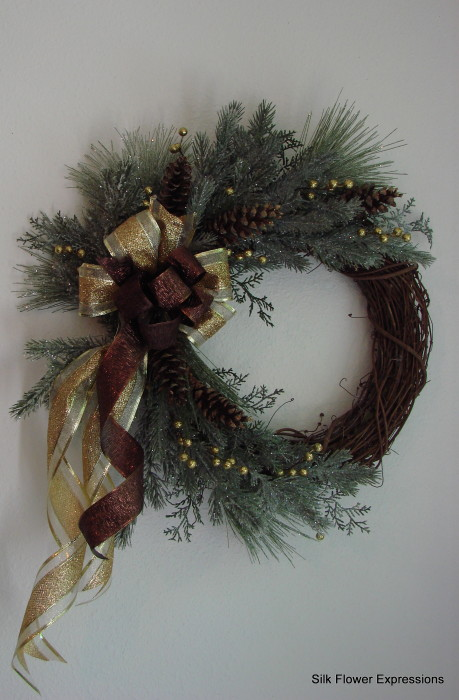 Gold and Brown Wreath